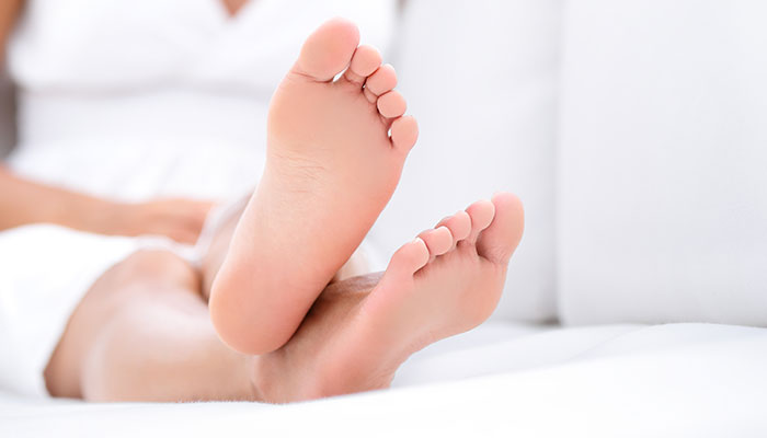 Keep feet fresh by wiping them with a cloth soaked in ACV!