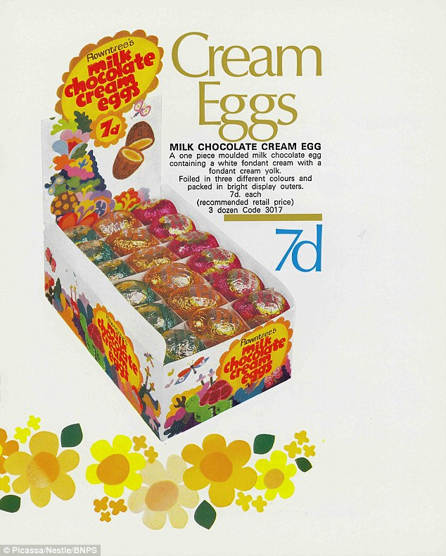 Rowntree's Milk Chocolate Cream Eggs from 1970 are made from the same ingredients as what we've come to love and know as Cadbury's Creme Eggs