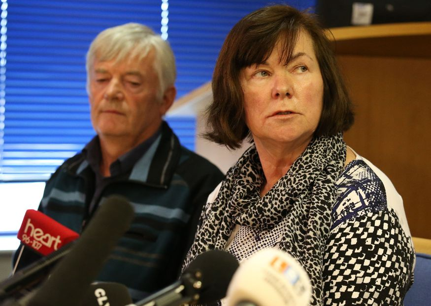 Marian and John Buckley, parents of missing girl Karen Buckley,