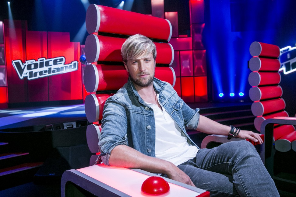 Kian Egan during a recording of The Voice of Ireland in The Heli