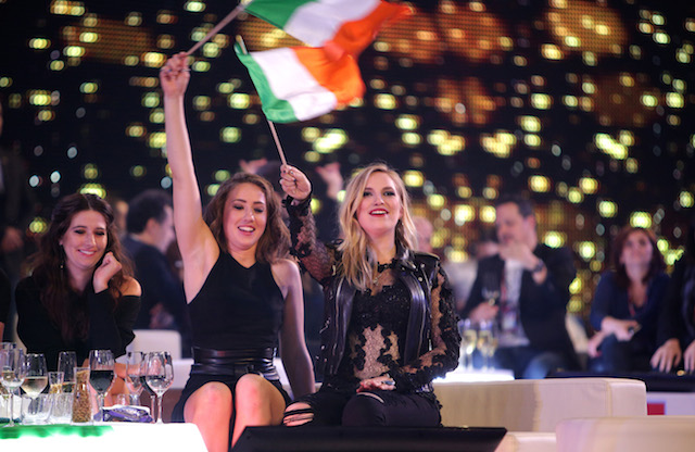 Molly Sterling from Ireland during the Semi Final second of the Eurovision Song Contest in Vienna, May 21, 2015.