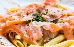 Pasta with Fresh Irish Salmon