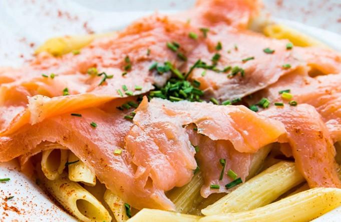 Pasta with Fresh Irish Salmon