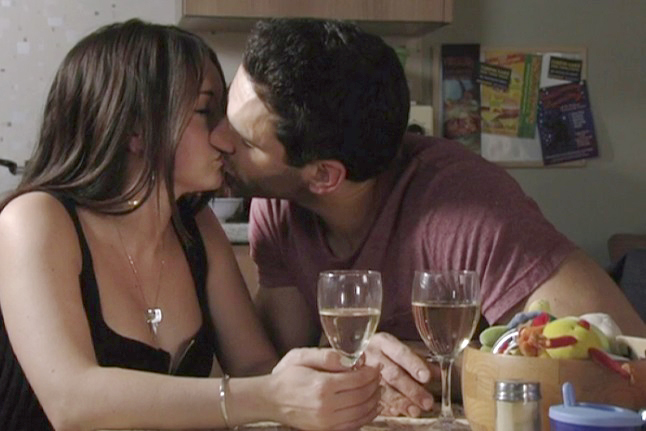 Kush and Stacey hooked up and started all this trouble. Pic: BBC