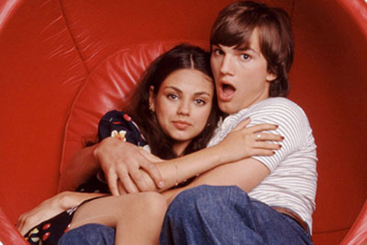 The pair met on the set of That 70s Show in the 90s. Pic: File