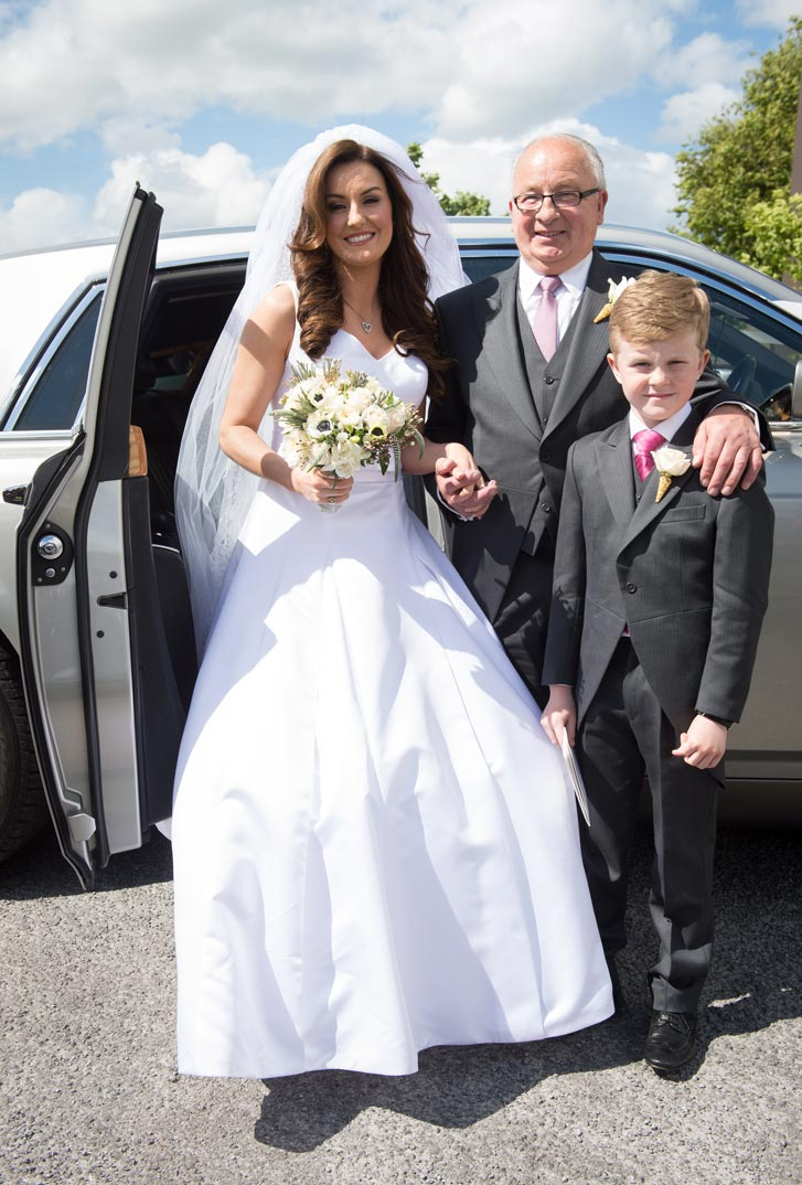 Mairead with her father, Robert, and her Son, Dara