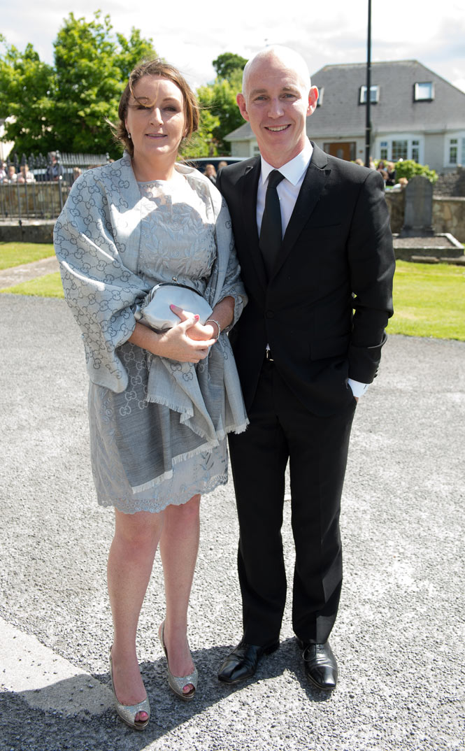 Ray D'Arcy and his wife Jenny Kelly