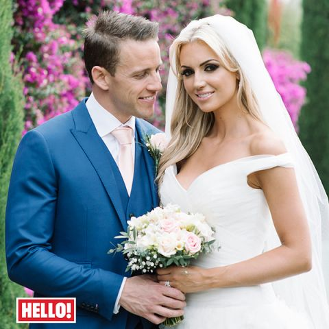 Rosanna and Wes on their wedding day in 2014. Pic: Hello!