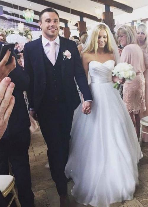 Tommy Bowe with bride Lucy