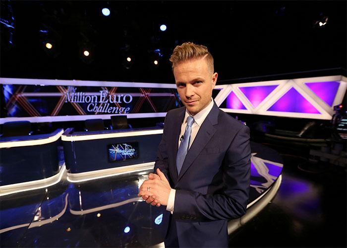 Nicky on the set of Million Euro Challenge