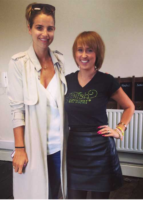 Michele with Vogue Williams