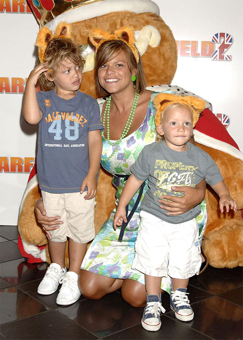 Jade Goody pictured at a premiere with her sons Freddie (right) and Bobby Jack in 2006. Pic: File