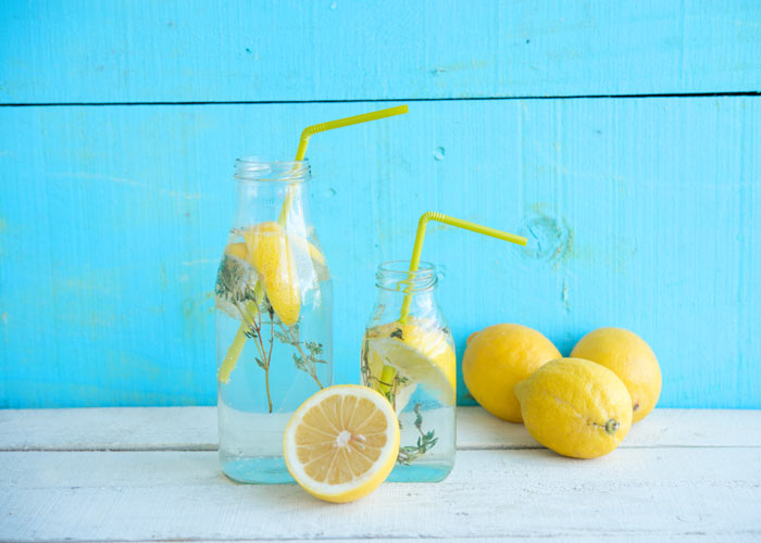 Water and lemon can speed up your metabolism and aid digestion