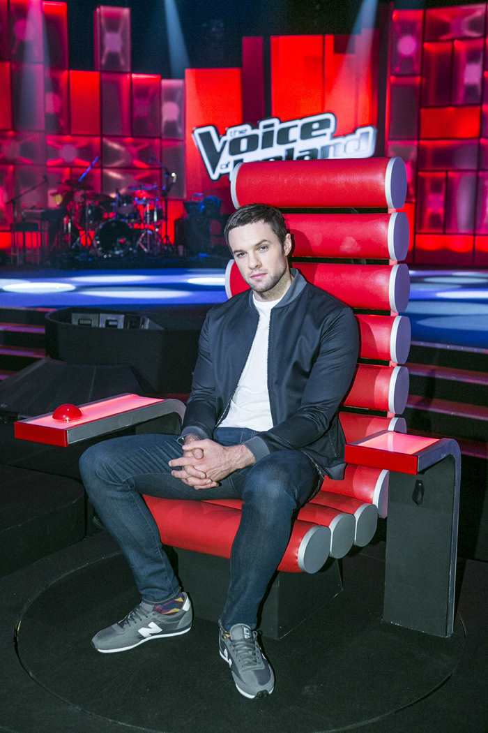 Bressie during a recording of The Voice of Ireland in The Helix