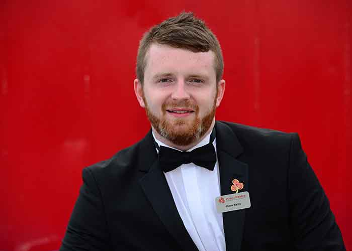 Shane Kenny from Tralee won the escort of the year 2015 Pic: FIle