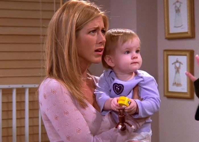 Her character Rachel as a mom Pic: File