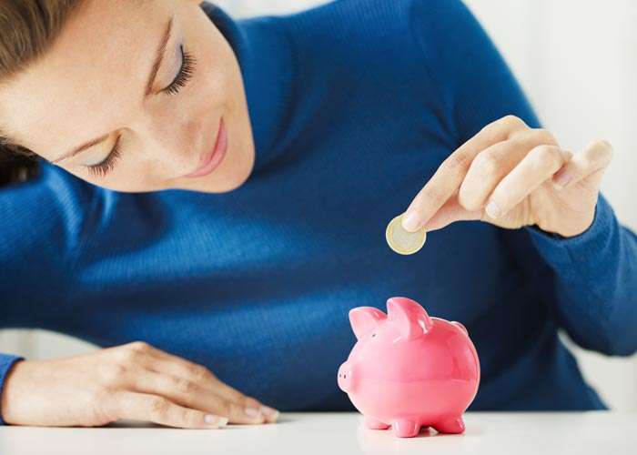 Every penny count so why not pop that extra bit into a saving account and see it grow Pic: Shutterstock