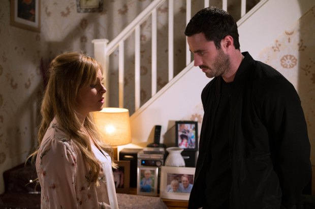FROM ITV STRICT EMBARGO - TV Listings Magazines & websites Tuesday 15 September 2015, Newspapers Saturday 19 September 2015 Coronation Street - 8739 Monday 21st September 2015 - 2nd Ep Sarah Platt [TINA O'BRIEN] texts Callum Logan [SEAN WARD] to come round - What is she up to? Picture contact: david.crook@itv.com on 0161 952 6214 Photographer - Joseph Scanlon This photograph is (C) ITV Plc and can only be reproduced for editorial purposes directly in connection with the programme or event mentioned above, or ITV plc. Once made available by ITV plc Picture Desk, this photograph can be reproduced once only up until the transmission [TX] date and no reproduction fee will be charged. Any subsequent usage may incur a fee. This photograph must not be manipulated [excluding basic cropping] in a manner which alters the visual appearance of the person photographed deemed detrimental or inappropriate by ITV plc Picture Desk. This photograph must not be syndicated to any other company, publication or website, or permanently archived, without the express written permission of ITV Plc Picture Desk. Full Terms and conditions are available on the website www.itvpictures.com