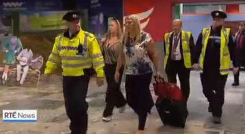 Aisling Brady McCarthy makes an emotional return to Ireland. Image: RTE