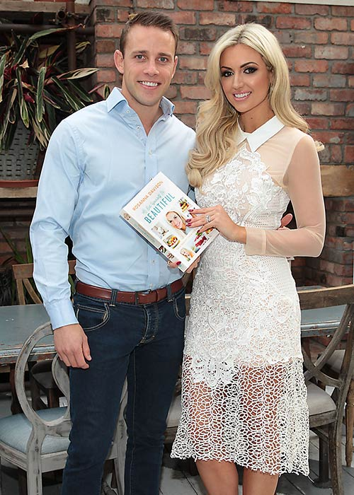 Wesley Quirke and Rosanna Davison at her Eat Yourself Beautiful book launch