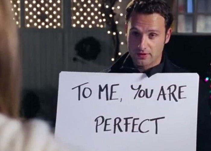 Compliments are always a must in a long-term relationship. Take your cue from this adorable 'Love Actually' scene.