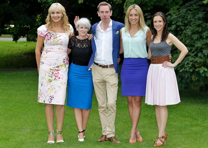 Maia with the RTE crew: Miriam O'Callaghan, Sinead Kennedy, Ryan Tubridy and Kathryn Thomas.