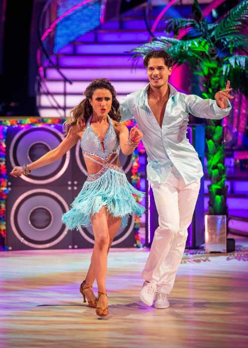 Gleb on the show with Anita Pic: BBC