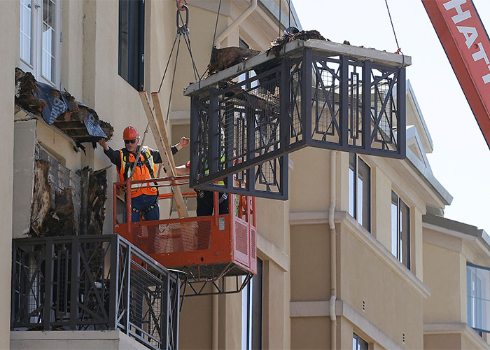 The companies accused of causing the Berkeley balcony collapse could be banned from operating in California for breaching construction standards. Pic:Getty