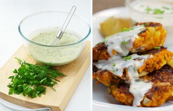 Crisp Chickpea Pumpkin Fritters with a Herb Dressing