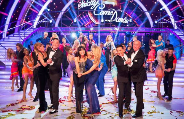 Embargoed to 2035 Saturday September 5 For use in UK, Ireland or Benelux countries only Undated BBC handout photo of Strictly Come Dancing judges and hosts (front row, left to right) Darcey Bussell, Craig Revel Horwood, Claudia Winkleman, Tess Daly, Bruno Tonioli and Len Goodman during rehearsals for the launch programme for this year's series. PRESS ASSOCIATION Photo. Issue date: Saturday September 5, 2015. See PA SHOWBIZ Strictly stories. Photo credit should read: Guy Levy/BBC/PA Wire NOTE TO EDITORS: Not for use more than 21 days after issue. You may use this picture without charge only for the purpose of publicising or reporting on current BBC programming, personnel or other BBC output or activity within 21 days of issue. Any use after that time MUST be cleared through BBC Picture Publicity. Please credit the image to the BBC and any named photographer or independent programme maker, as described in the caption.