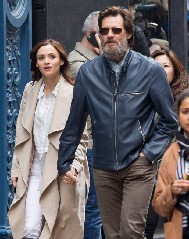 Picture Shows: Cathriona White, Jim Carrey May 18, 2015 * Stock - Jim Carrey's on/ off girlfriend 28-year-old girlfriend Cathriona White has committed suicide * 'The Bad Batch' actor Jim Carrey spotted out with a mystery woman in New York City, New York. The pair held hands as they made their way down the street. Exclusive All Rounder UK RIGHTS ONLY Pictures by : FameFlynet UK © 2015 Tel : +44 (0)20 3551 5049 Email : info@fameflynet.uk.com