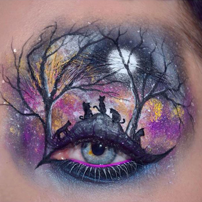 Check Out These Stunning Halloween Eyeshadow Art Looks