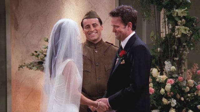 It took a while with Monica and Chandler too...