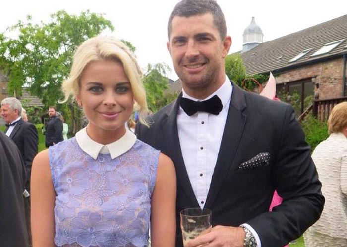 Jess and Rob at a friend's wedding last year