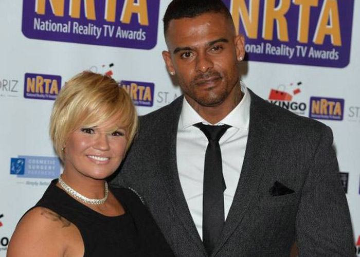 Kerry Katona and George Kay in September this year.