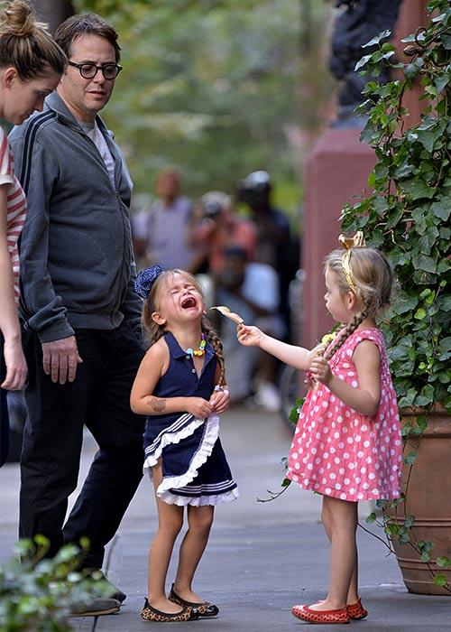 Matthew Broderick looks quite amused!