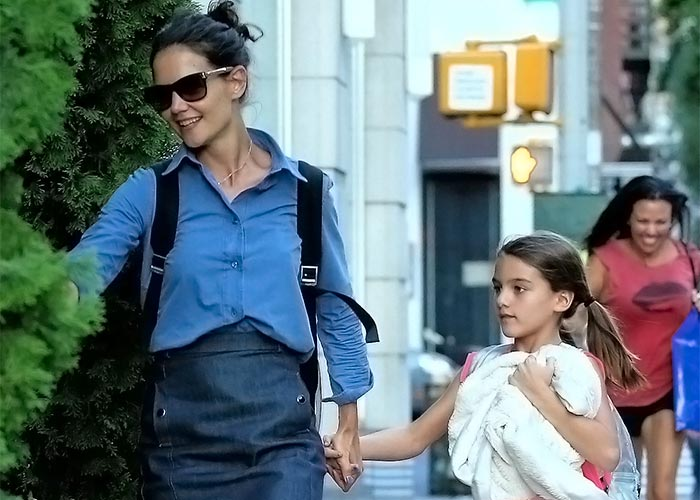 Katie Holmes and her daughter Suri. Pic: File