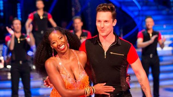 Tristan danced with Jamelia on Strictly