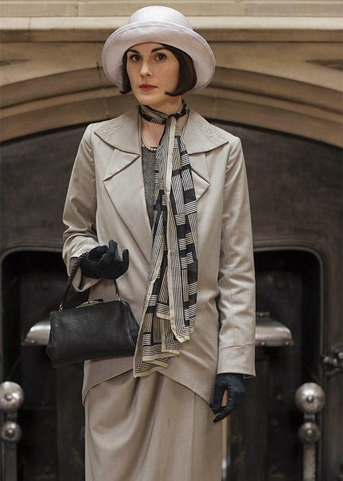 Lady Mary would love Michelle Dockery's bag collection. Pic: Downton