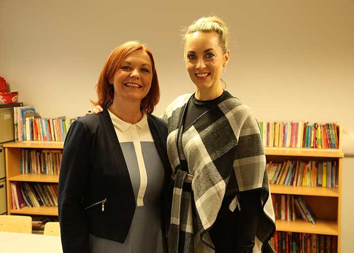 Noeleen with host Kathryn Thomas