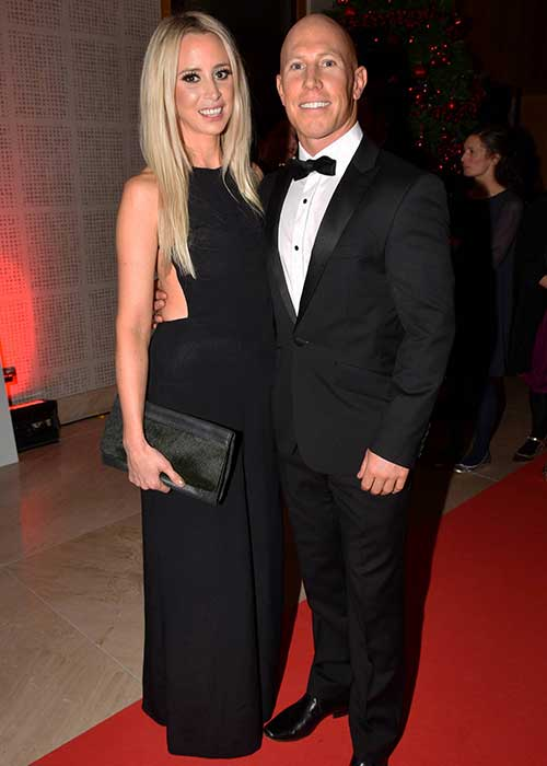Happy couple: Peter Stringer married Debbie last summer