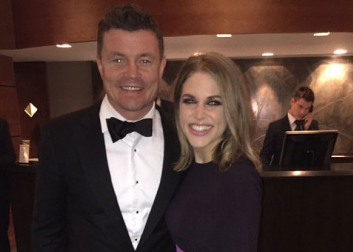 Amy posing with her hubby Brian O'Driscoll