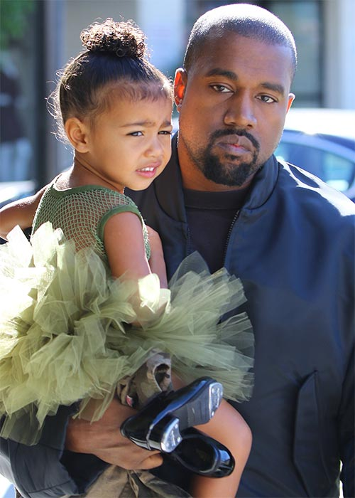 Kanye with North. Pic: Rex