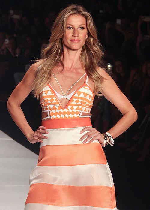Gisele retired from modelling this year.