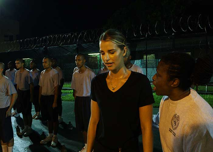 Vogue was put through her paces in the prison bootcamp for Wild Girls