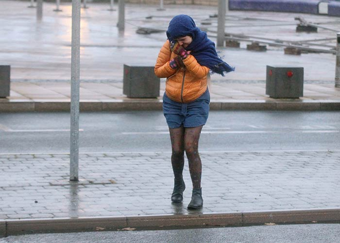 It's going to pretty windy and wet out there