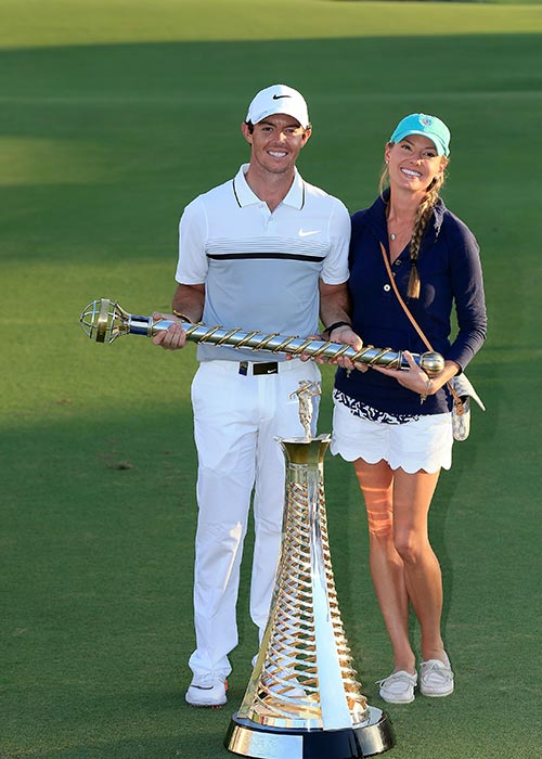 Rory with his soon-to-be wife Erica Stoll