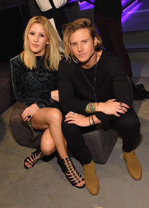 Couple: Ellie Goulding and Dougie Poynter earlier this year, before their 'temporary break