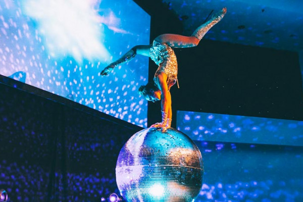 Glitter Ball Hand Balance & Contortion