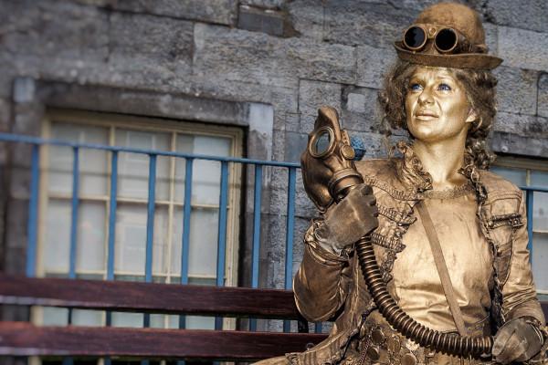 Steampunk Bronze Human Statues